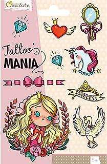 Avenue Mandarine CC001O Tattoo Mania voor kinderen vanaf 5 jaar, 1 verpakking, prinses