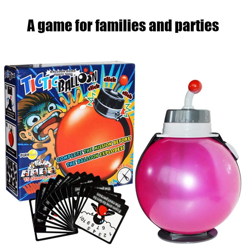 Tnfeeon Fiesta Bomba Juego explosión Globo, Juego Interactivo de Verdad o misión Juego emocionante Mesa de Juguete Juego de Escritorio para niños Adultos: Amazon.es: Juguetes y juegos