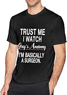 Mens Trust Me I Watch Text Casual Soft Cotton Short Sleeve Round Neck T-Shirt
