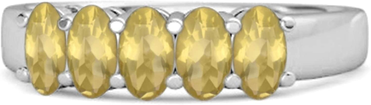 Multi Choice Your Gemstone Five Stone 925 1.25 Eternity Half Cts Sales results No. 1 2021 new