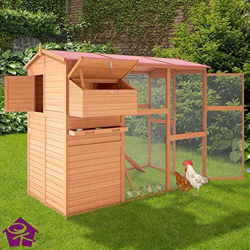 Hühnerstall Hühnerhaus Brutkasten Stall Kleintierstall Hasenstall Käfig Kickie - 3