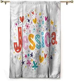 Andrea Sam Blackout Tie Up Curtain Jessica,Retro Colorful Motifs,36