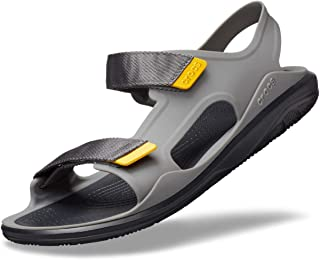 Crocs Swiftwater Molded Expedition Sandal, Sandalias de Punta Descubierta para Hombre, Gris (Slate Grey/Black 0dy)