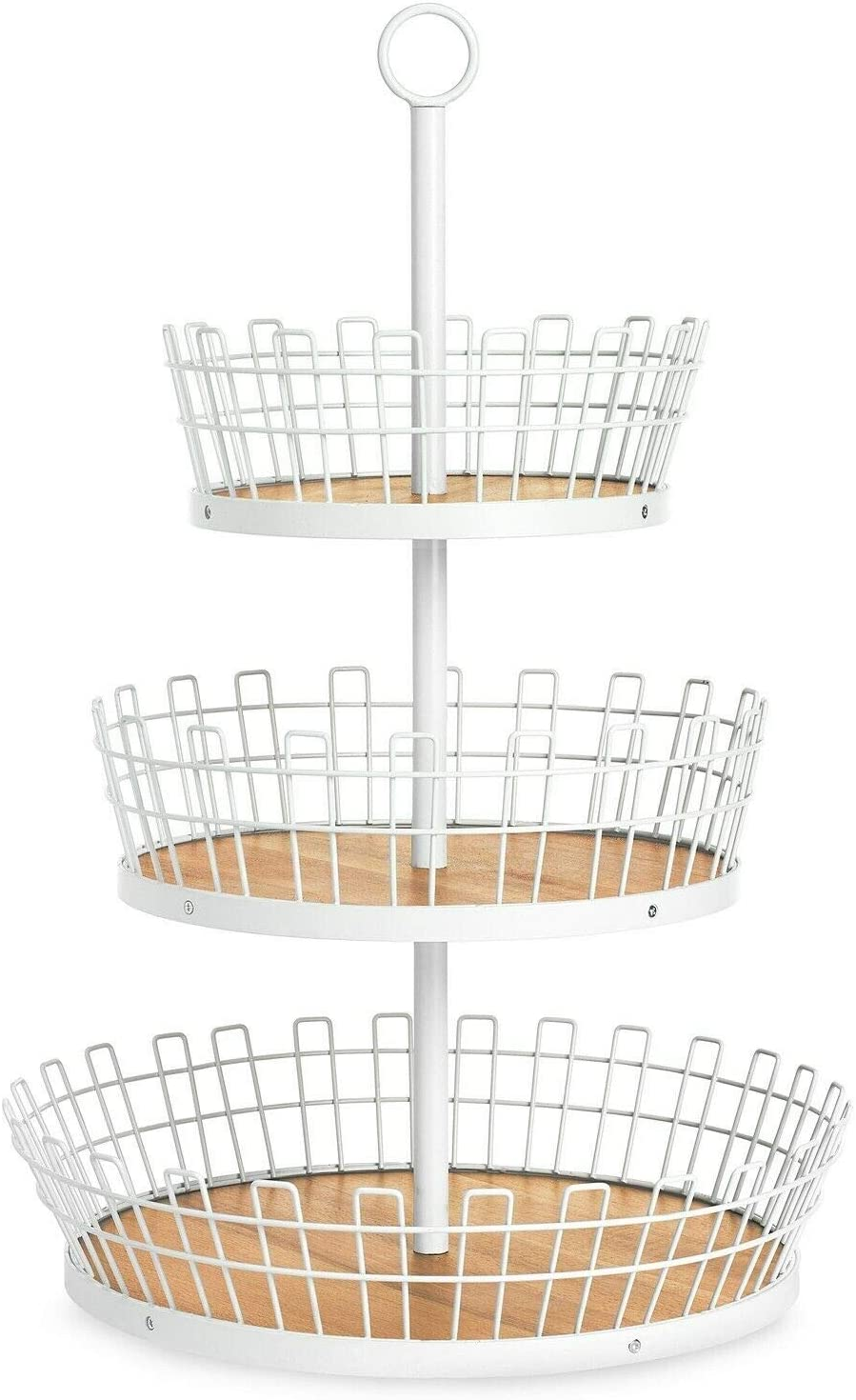 SEAL限定商品 Martha 正規品送料無料 Stewart Collection 3-Tiered Gray Macy for Created Basket