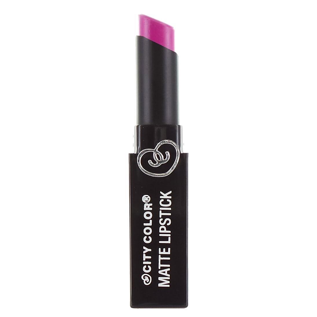 でもケーブル繁栄するCITY COLOR Matte Lipstick L0050B - Magenta (並行輸入品)