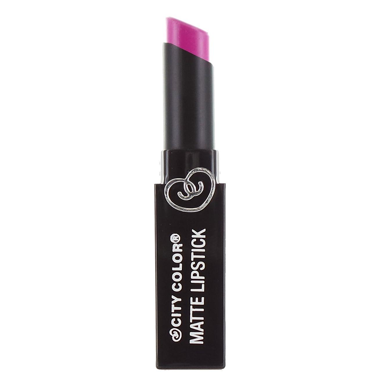 サーキットに行く風邪をひくパスポートCITY COLOR Matte Lipstick L0050B - Magenta (並行輸入品)