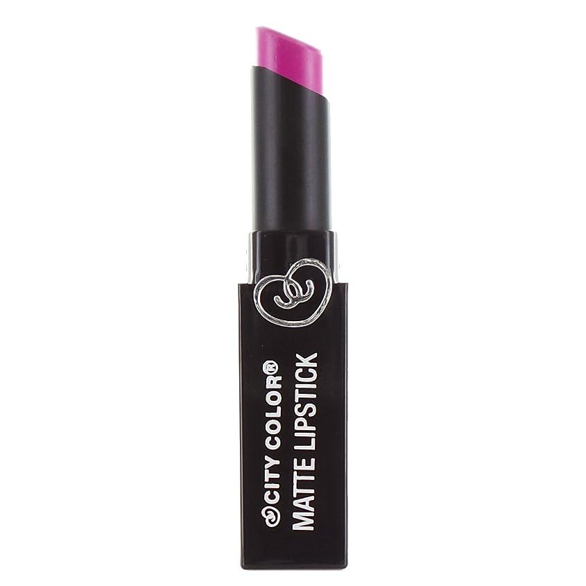 急勾配の十一アリCITY COLOR Matte Lipstick L0050B - Magenta (並行輸入品)