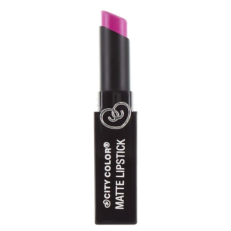 住所風邪をひく使い込むCITY COLOR Matte Lipstick L0050B - Magenta (並行輸入品)