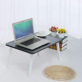 Voberry Large Bed Tray Multifunction Laptop Desk Lap Desk Foldable Portable Standing Outdoor Camping Table, Breakfast Reading Tray Holder for Couch Floor for Adults/Students/Kids with Handle