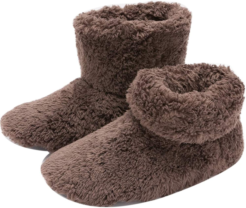 Mianshe Mens and Women's Cozy Bootie Slippers with Memory Foam for Indoor Outdoor