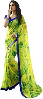 Lecherous Women's Georgette Saree(Yellow)