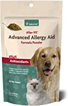 NaturVet – Aller-911 Advanced Allergy Aid Plus Antioxidants – 9 oz Powder – Supports Immune System, Skin Moisture & Respiratory Health – Enhanced with Omegas, DHA & EPA – For Dogs & Cats