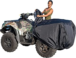 XYZCTEM Waterproof ATV Cover, Heavy Duty Black Protects 4 Wheeler From Snow Rain or Sun, Large Universal Size Fits 88 inch...