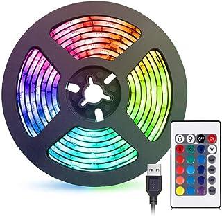 شريط اضاءة LED بطول مترين، مجموعة الاضاءة الخلفية للتلفزيون لزينة تلفزيون HDTV والمكتب والكمبيوتر، اضواء شاشة مضادة للماء ...
