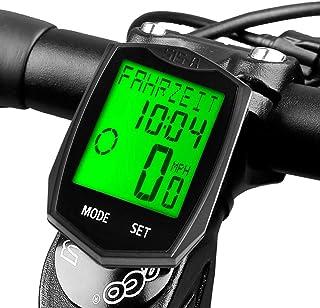 comprar comparacion Dinoka - Velocímetro inalámbrico para bicicleta, impermeable, con retroiluminación LCD, seguimiento de distancia, velocida...