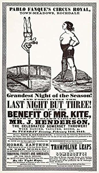 Vertigo Creative Products Being For The Benefit Of Mr Kite Gicle Vintage Poster Print 12 X21 Inspiration For Beatles Song
