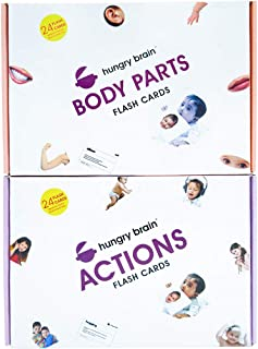 hungry brain Educational Flash Cards | Body Parts and Actions Combo | Educational Learning Materials | Play Cards Toys | E...