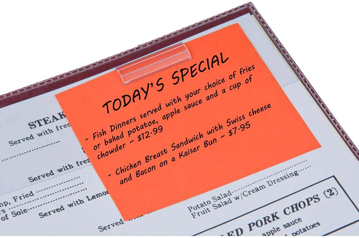 Cafe Restaurant Specials Clear Menu Clip, Pack of 250