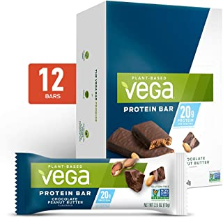 Vega 20g Protein Bar, - High Protein n Protein Bars, Plant Based, Vegetarian, Dairy Free, Gluten Free, Soy Free, Non GMO C...