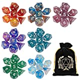 7 x 7 DND Dice Set, (49 Pieces) Polyhedron Dice for Dungeons & Dragons RPG MTG DND Tabletop Game with 1 Pouch