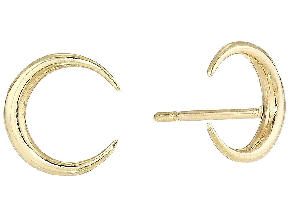Dee Berkley - Dee Berkley 14Kt Solid Gold Crescent Moon Stud Earrings