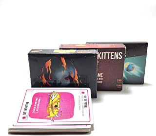 Exploding Picture Box - Explode Fun for Kitten Board Games Cards Game Original-Red Box, NSFW -Black Box, Expansion-20 Cards for Family Party