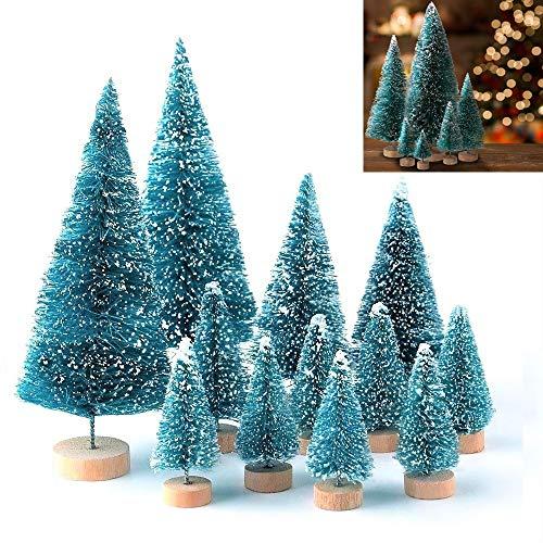 LATERN 28 Stück Künstlicher Weihnachtsbaum Mini Christbaum Grün Tannenbaum künstliche Tanne für Tischdeko, DIY, Schaufenster