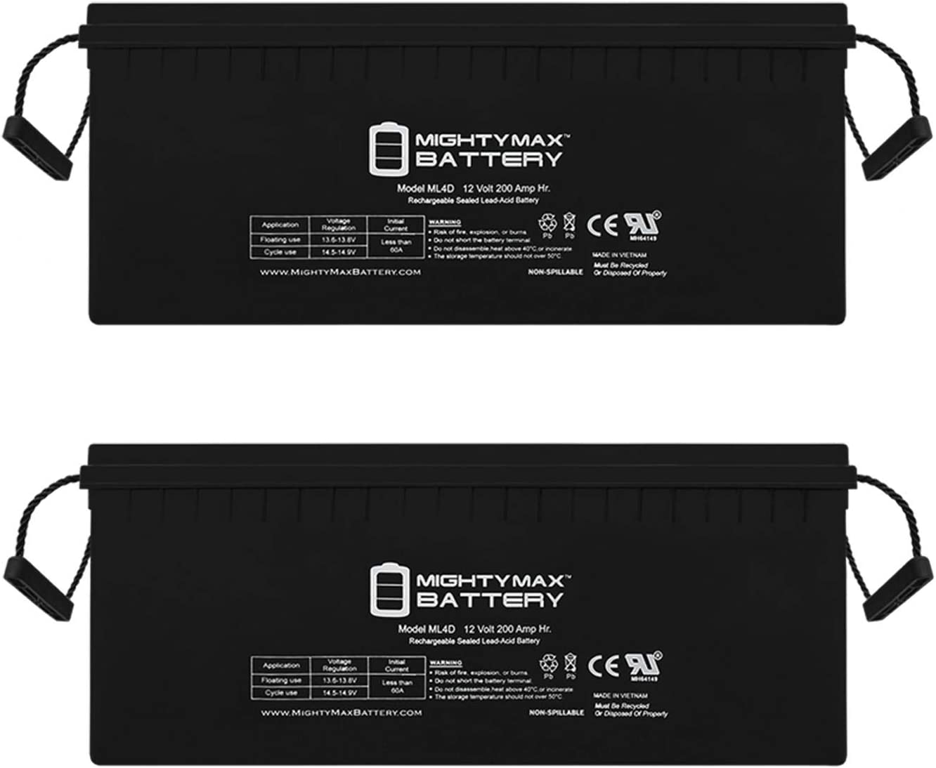 Mighty Max Reservation Battery Sealed Lead-Acid Shipping included 12V AGM-Type - 200