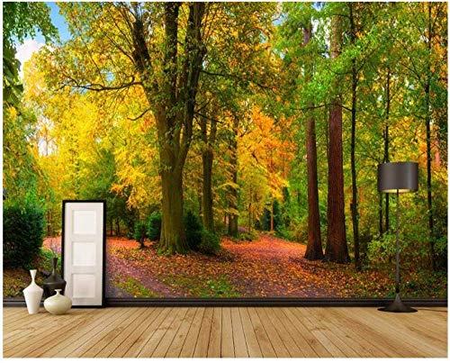 ZZXIAO Fondo de pantalla-Mural decorativo para el hogar-Parque de árboles de madera-Murales estéreo 3D-Pais Sala de estar para cocina Decoración Fotomural sala Pared Pintado Papel tapiz-430cm×300cm