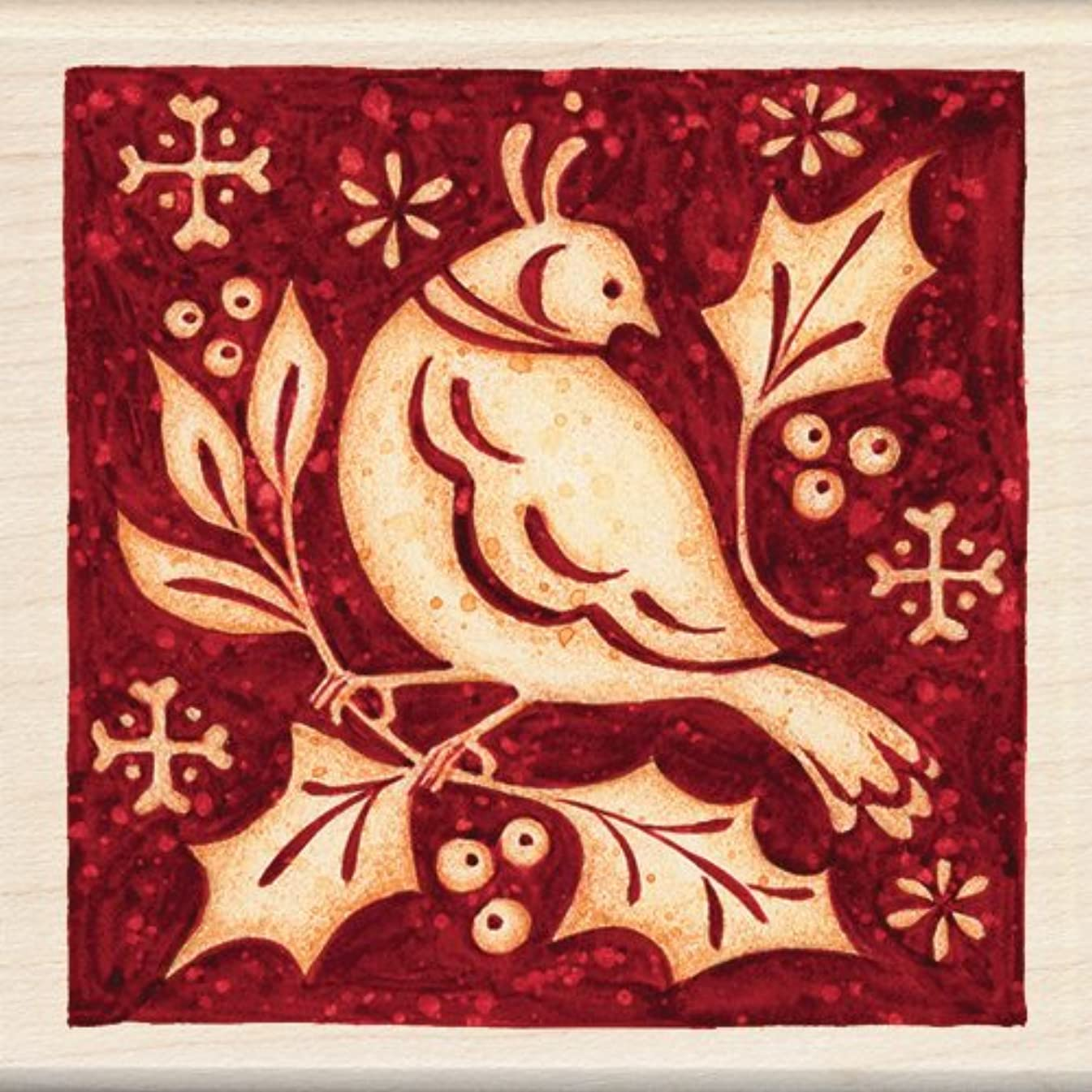 Inkadinkado Wood Stamp, Partridge