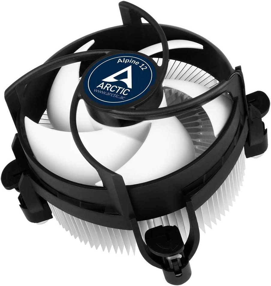 ARCTIC Alpine 12 - CPU Cooler for Intel Sockets 115x and 1200, 92 mm PWM Fan, up to 95 W Cooling Power, with Pre-Applied MX-2 Thermal Compound, Easy Installation