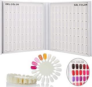 nail gel color card