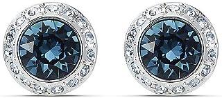 SWAROVSKI Women's Angelic Stud Pierced Earrings, Blue, Rhodium plated