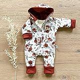 Overall Rosenwiese - Terra - mit Kapuze und umklappbarer Arm- und Beinbündchen Baby Mädchen Winter