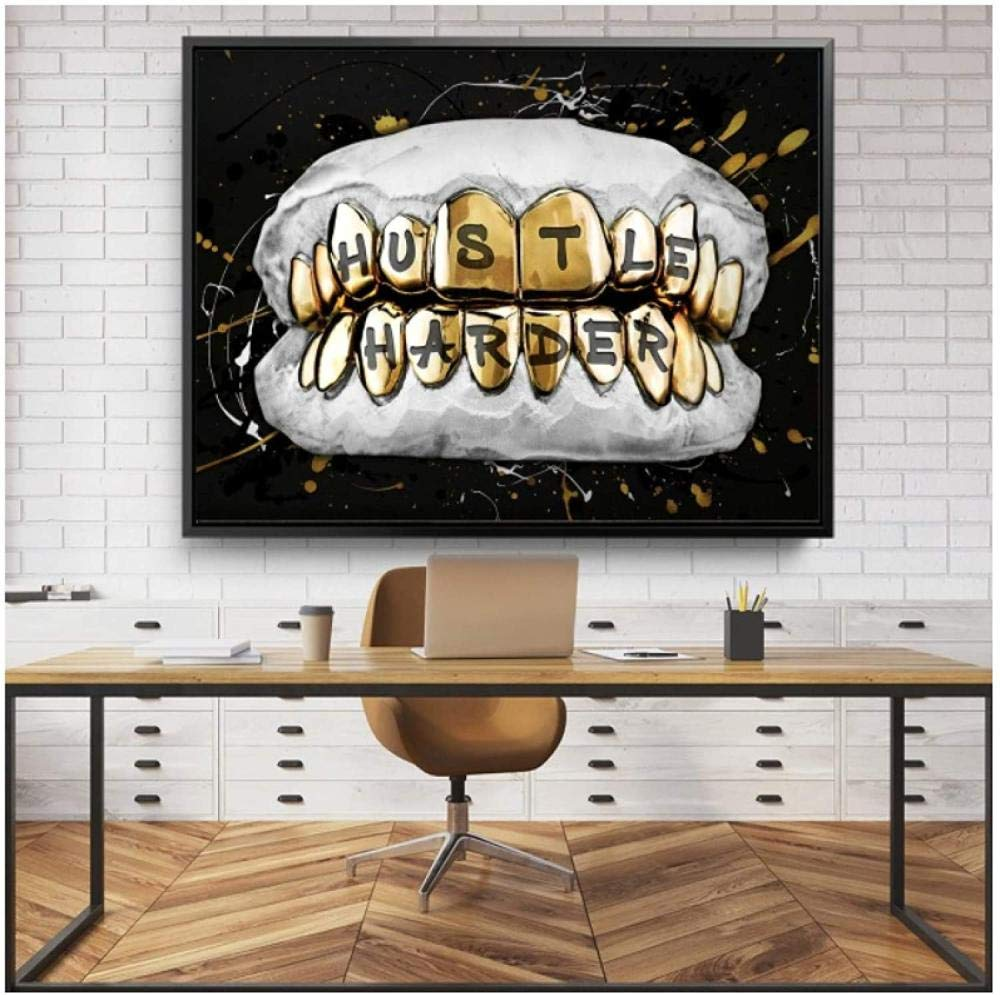 Posters Canvas Print Painting Golden National products Modu Art Teeth 2021 autumn and winter new Wall