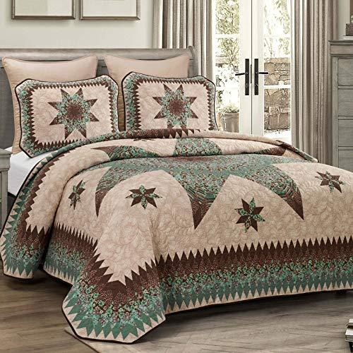 Donna Sharp Bettwäsche-Set für Doppelbett, 2-teilig, Motiv: Sea Breeze Star von Donna Sharp, modernes Bettwäsche-Set mit Steppdecke und einem Standard-Kissenbezug, maschinenwaschbar