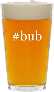 #bub - Glass Hashtag 16oz Beer Pint