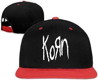 Korn Metal Band Logo Baseball Cap Men Women - Classic Adjustable Plain Hip Hop Hat Red