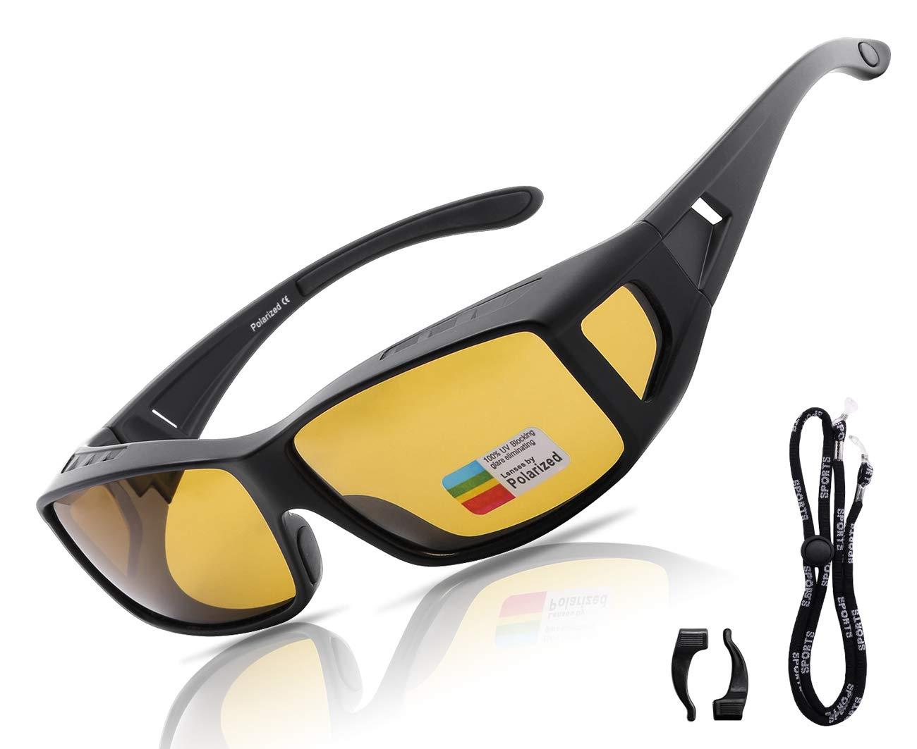 c3b110513c3 O-LET Night Vision Glasses Fit Over Prescription Gasses or Readers