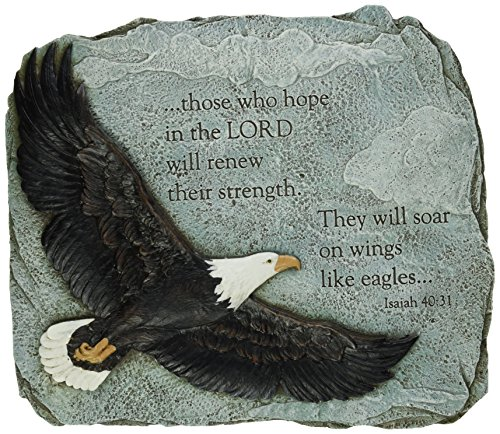 Joseph's Studio by Roman - Collection, 11' H Eagles Wings Garden Stone, Made from Resin, High Level of Craftsmanship and Attention to Detail, Durable and Long Lasting