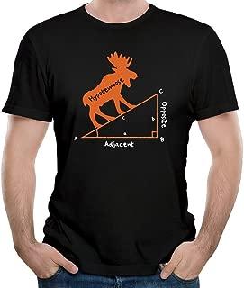 bibisc Men Hypotenuse Formula Math Geek T-Shirt 100% Cotton