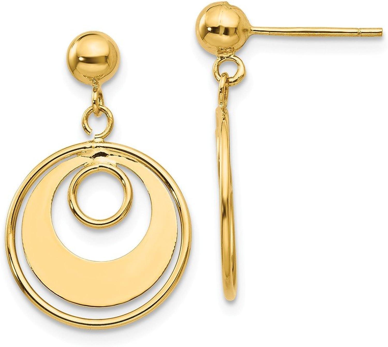 Beautiful Yellow gold 14K Yellowgold 14k Circle Post Earrings