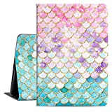 Drodalala iPad 7th Generation Case 10.2 inch iPad Case iPad 8th iPad Cover with Premium Leather Soft TPU Adjustable Viewing Stand Tablet Case -Auto Wake 8th Generation iPad Case Pink Fish Scales