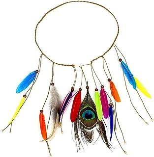 JOYIYUAN Diadema de Plumas Gypsy Indian Hippie Bohemio Feather Hair Band Fiesta Banquete Peluquería