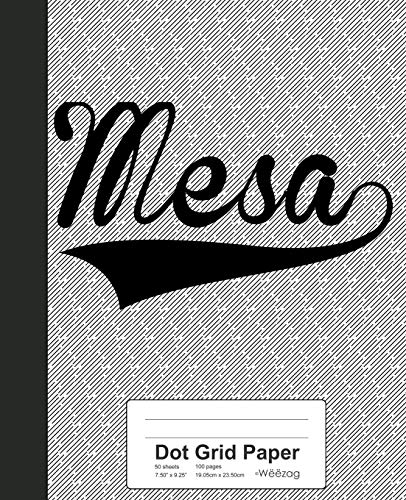 Dot Grid Paper: MESA Notebook (Weezag Dot Grid Paper Notebook, Band 3341)