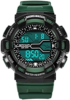 Multi-functional Electronic Watch with Resin Strap Waterproof Digital Display Sport Wristwatch