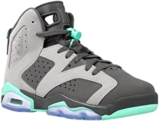 9c19fac2030c98 FREE Shipping on eligible orders. Grey Air Jordan 6 Retro (GG) Green Glow  (543390-005) 36