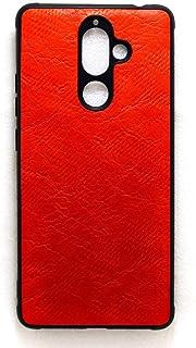جراب خلفي جلد لموبايل نوكيا 7 بلس - احمر