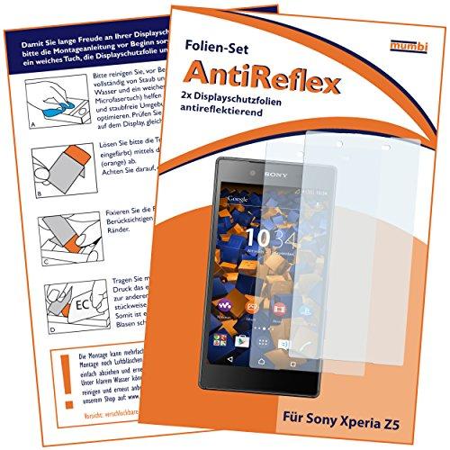 mumbi Schutzfolie kompatibel mit Sony Xperia Z5 Folie matt, Bildschirmschutzfolie (2X)