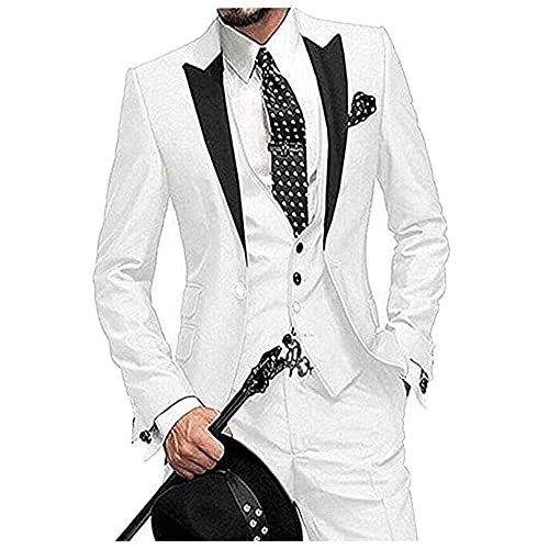 jacket+pants+bow Tie Steady High Quality Mens Suits Groom Tuxedos Groomsmen Wedding Party Dinner Best Man Suits W:14